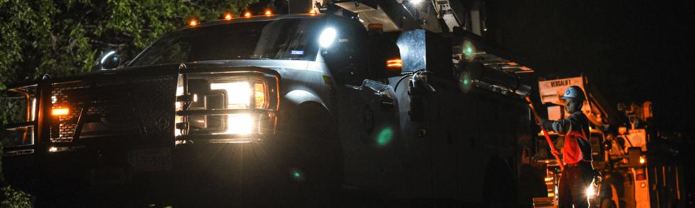 Public power crews work to restore power after Hurricane Laura makes landfall