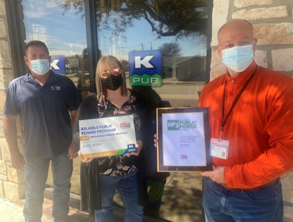 KPUB Earns National Recognition as a Reliable Public Power Provider